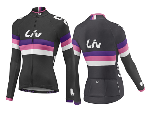Liv Race Day L/S Jersey Color: Black/Purple/Pink
