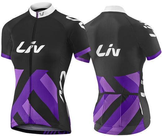 Liv Race Day Short Sleeve Jersey Color: Black/Purple