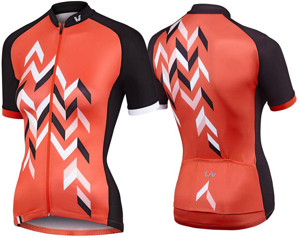 Liv Accelerate Short Sleeve Jersey Color: Coral/Charcoal