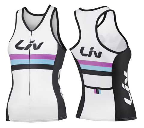 Liv Race Day Tri Top - Women's Color: White/Black