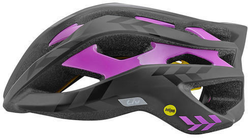 Liv Rev Helmet MIPS Color: Black/Purple