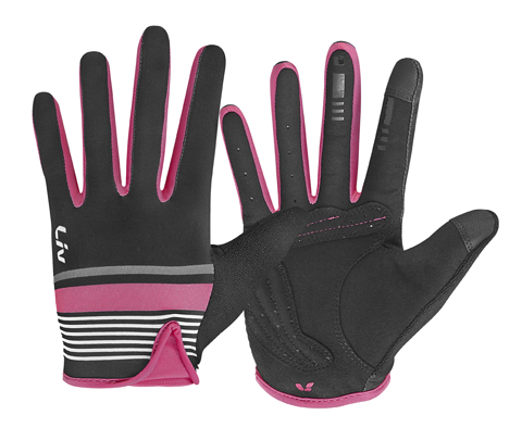 Liv Signature Long Finger Gloves - Women's Color: Black/Hot Pink
