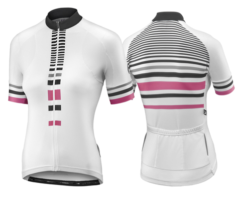 Liv Signature S/S Jersey Color: White/Hot Pink