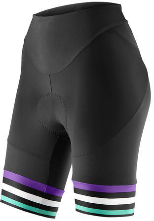 Liv Signature Short Color: Black/Purple/Green