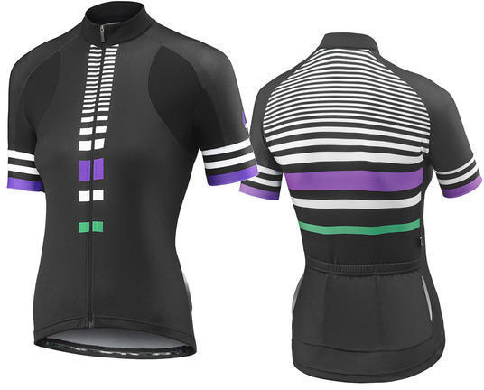 Liv Signature Short Sleeve Jersey Color: Black/Purple/Green