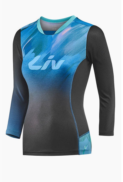 Liv Sumi 3/4 Sleeve Jersey Color: Black/Blue
