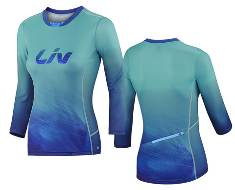 Liv Sumi 3/4 Sleeve Jersey Color: Blue