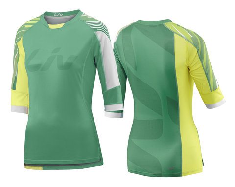 Liv Tangle 3/4 Jersey - Women's Color: Green/Yellow