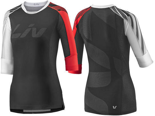 Liv Tangle 3/4 Jersey Color: Black/Red
