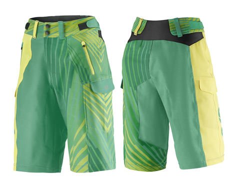 Liv Tangle Baggy Short Color: Green/Yellow