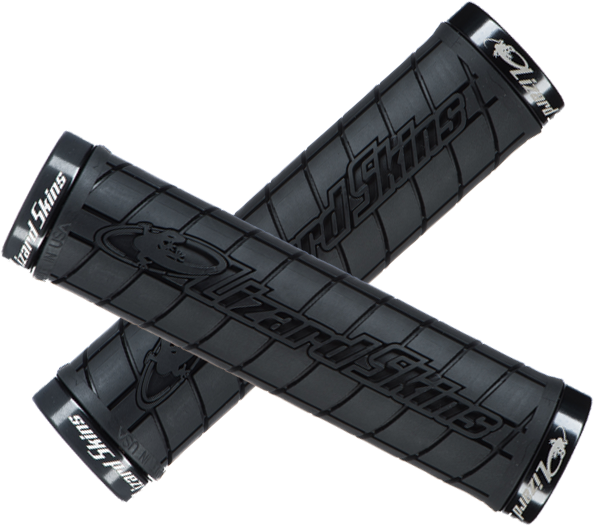 Lizard Skins Lock-On Logo Grips Color: Black (Black Lock Rings)