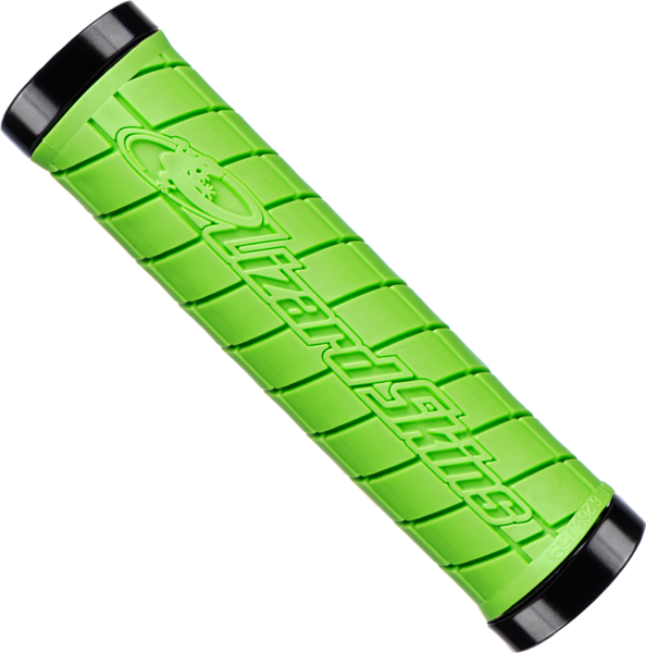 Lizard Skins Lock-On Logo Grips Color: Green (Black Lock Rings)