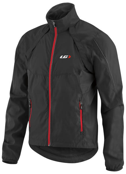 Garneau Cabriolet Cycling Jacket Color: Black/Red