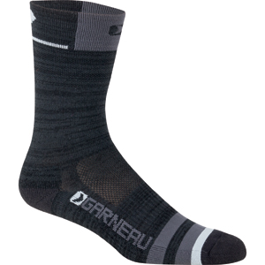 Garneau Merino Prima Socks Color: Black/Gray