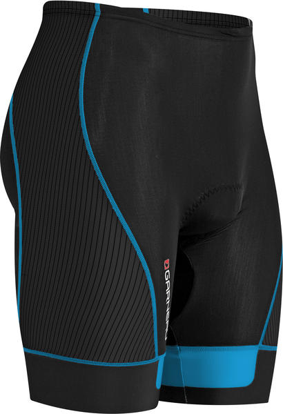 Louis Garneau Pro 8 Shorts Color: Black/Cyan
