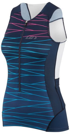 Louis Garneau Women's Pro Carbon Sleeveless Triathlon Top Color: Lazer