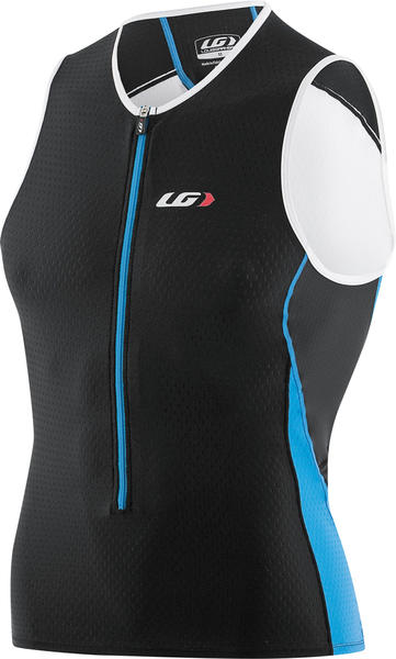 Louis Garneau Pro Sleeveless Jersey Color: Black/Cyan