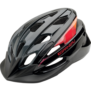 Garneau Razz Cycling Helmet Color: Black/Red