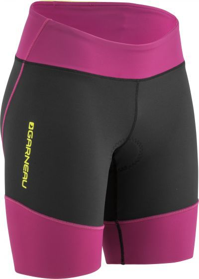 Garneau Women's Tri Comp Triathlon Shorts Color: Black/Pink/Purple