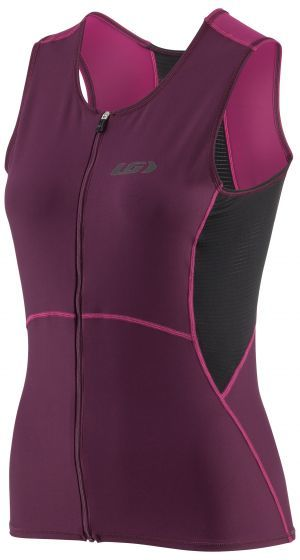 Garneau Tri Comp SL Tri Suit Color: Black/Pink/Purple