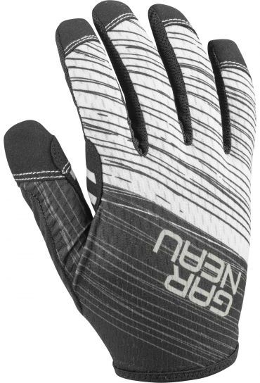 Garneau Wapiti Cycling Gloves Color: Black/Grey/White