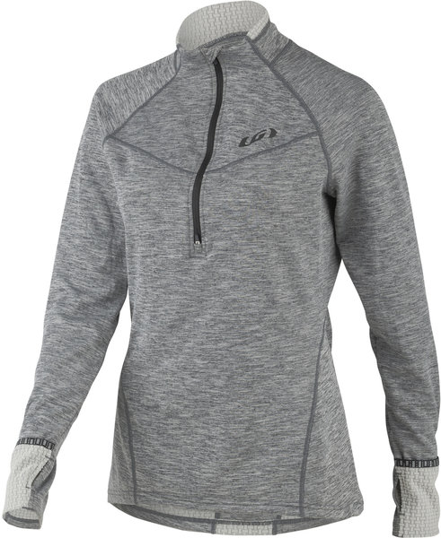 Louis Garneau Women's 4002 Zip Neck Color: Heather Gray