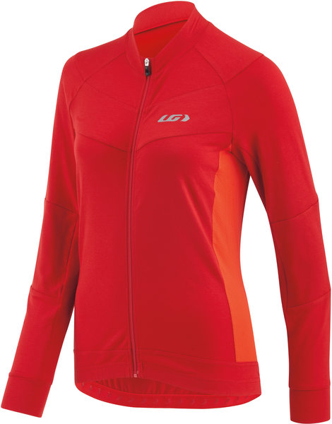 Garneau Women's Beeze LS Cycling Jersey Color: Barbados Cherry