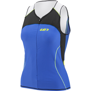 Garneau Women's Comp Sleeveless Triathlon Top Color: Black/Blue