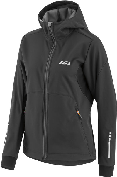 Louis Garneau Women's Enertec Hoodie Jacket Color: Black