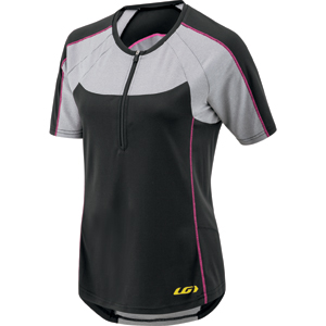 Garneau Women's Icefit Zip-T Jersey Color: Black/Gray