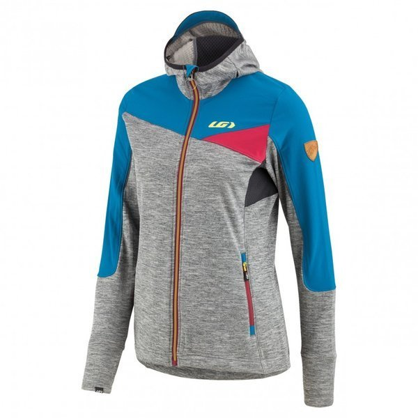 Louis Garneau Women's Mid Season Hoodie Color: Gray/Moroccan Blue