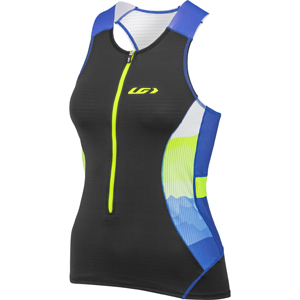 Garneau Women's Pro Carbon Top Color: Black/Blue/Yellow