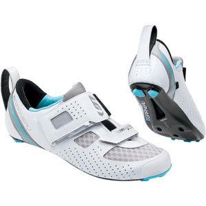 Louis Garneau Women's Tri X-Lite II Shoes Color: White/Blue Fish