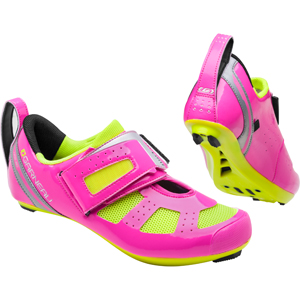 Garneau Women's Tri X-Speed III Shoe Color: Pink Glow/Bright Yellow