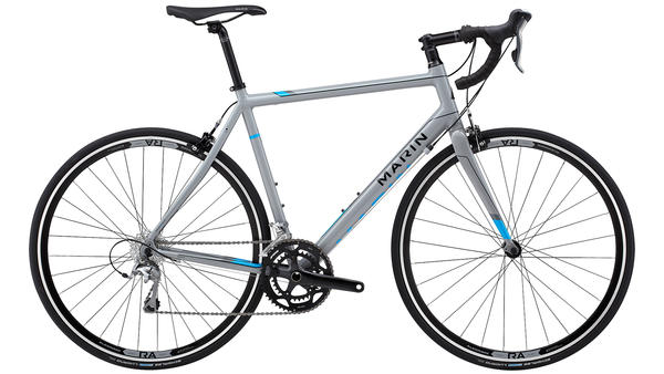 Marin Argenta A6 Elite Color: Gloss Gray w/Black and Cyan Decals