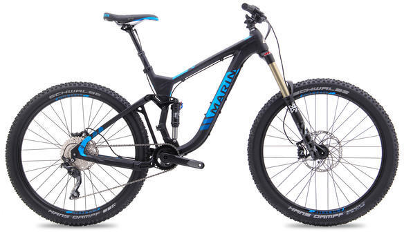 Marin Attack Trail 7 Color: Satin Black w/Blue