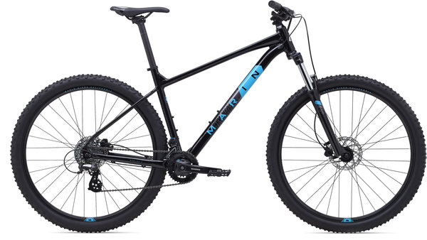Marin Bobcat Trail 3 Color: Gloss Black/Charcoal/Cyan