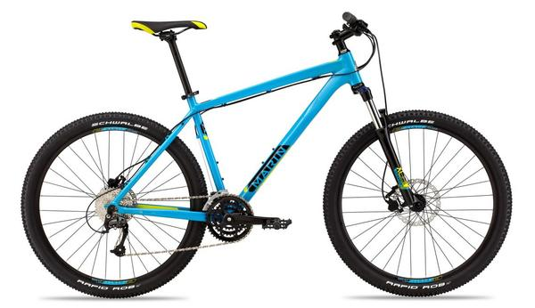 Marin Bobcat Trail 7.4 Color: Gloss Cyan/Yellow/Black