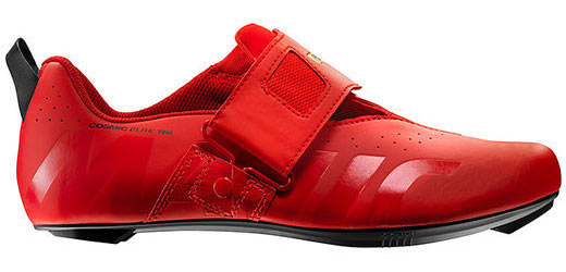 Mavic Cosmic Elite Tri Shoes Color: Fiery Red/Black