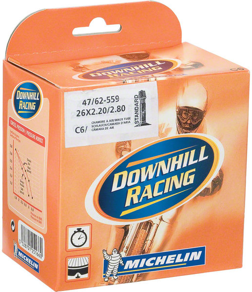 MICHELIN Aircomp DH Schrader Valve Tube Size: 26 x 2.20 – 2.80