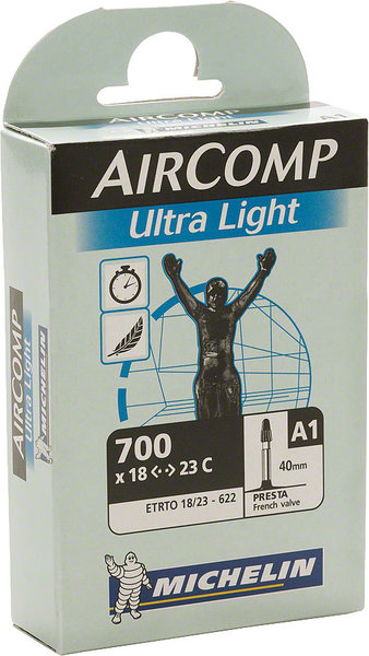 MICHELIN Aircomp Ultralight (40mm Presta Valve) Size: 700c x 18 – 23