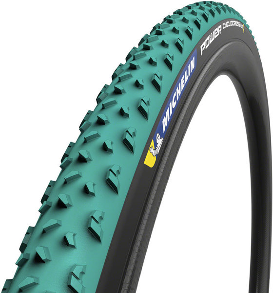 MICHELIN Power Cyclocross Mud Tubular Color: Green/Black