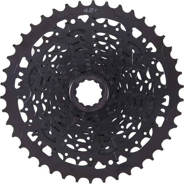 Microshift ADVENT 9-Speed Cassette w/Steel Large Cog Color: Black