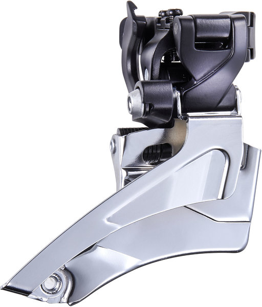 Microshift ADVENT 9-Speed Front Derailleur Color: Black/Silver