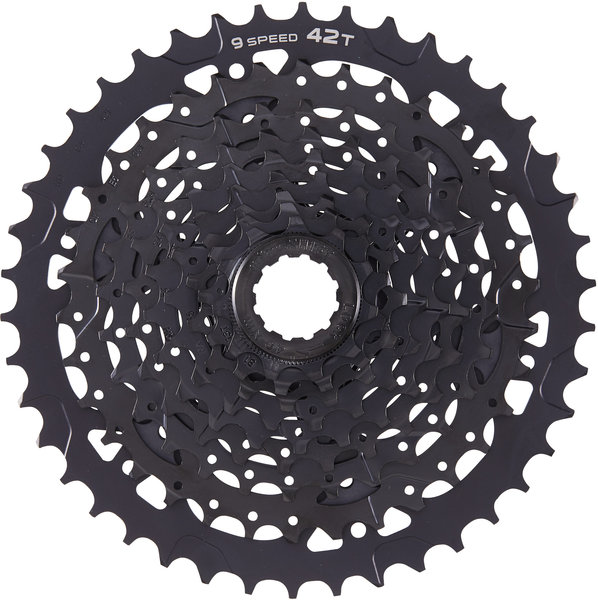 Microshift ADVENT 9-Speed Cassette w/Alloy Large Cog Color: Black ED Coating