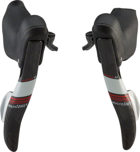 Microshift Arsis Drop Bar Shifter Set Color: Black