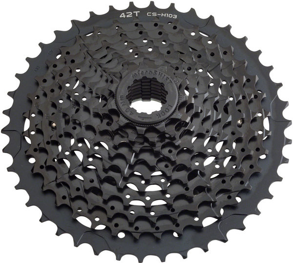 Microshift H10 10-Speed Mountain Cassette Color: Black