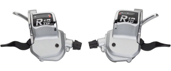 Microshift R10 Trigger Shifter Set Color: Silver