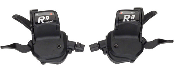 Microshift R8 Trigger Shifter Set Color: Black