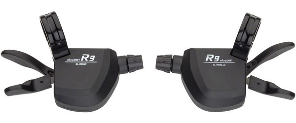 Microshift R9 Trigger Shifters Color: Black
